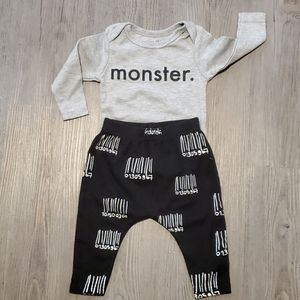 Tiny Tribe 2 piece baby outfit 0-3 M
